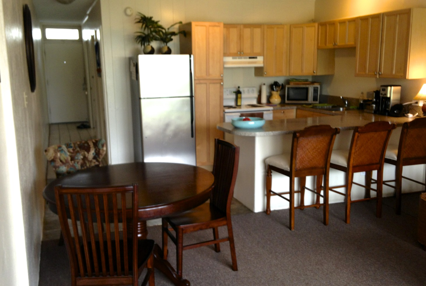 Paia Maui Vacation Rental Our very functional fully equipped kitchen.