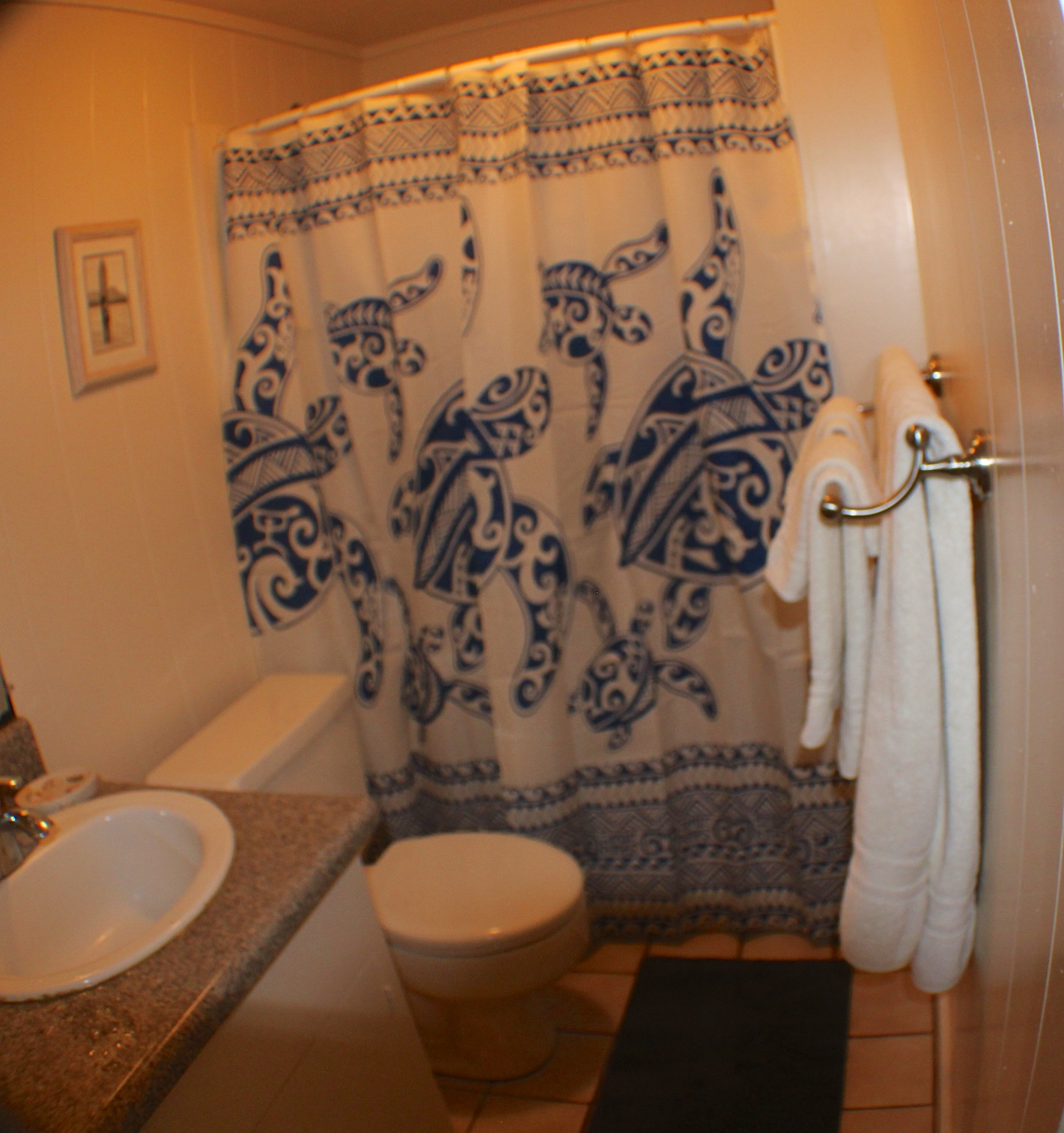 Paia Maui Vacation Rental Bathroom Located just of the Master Bedroom