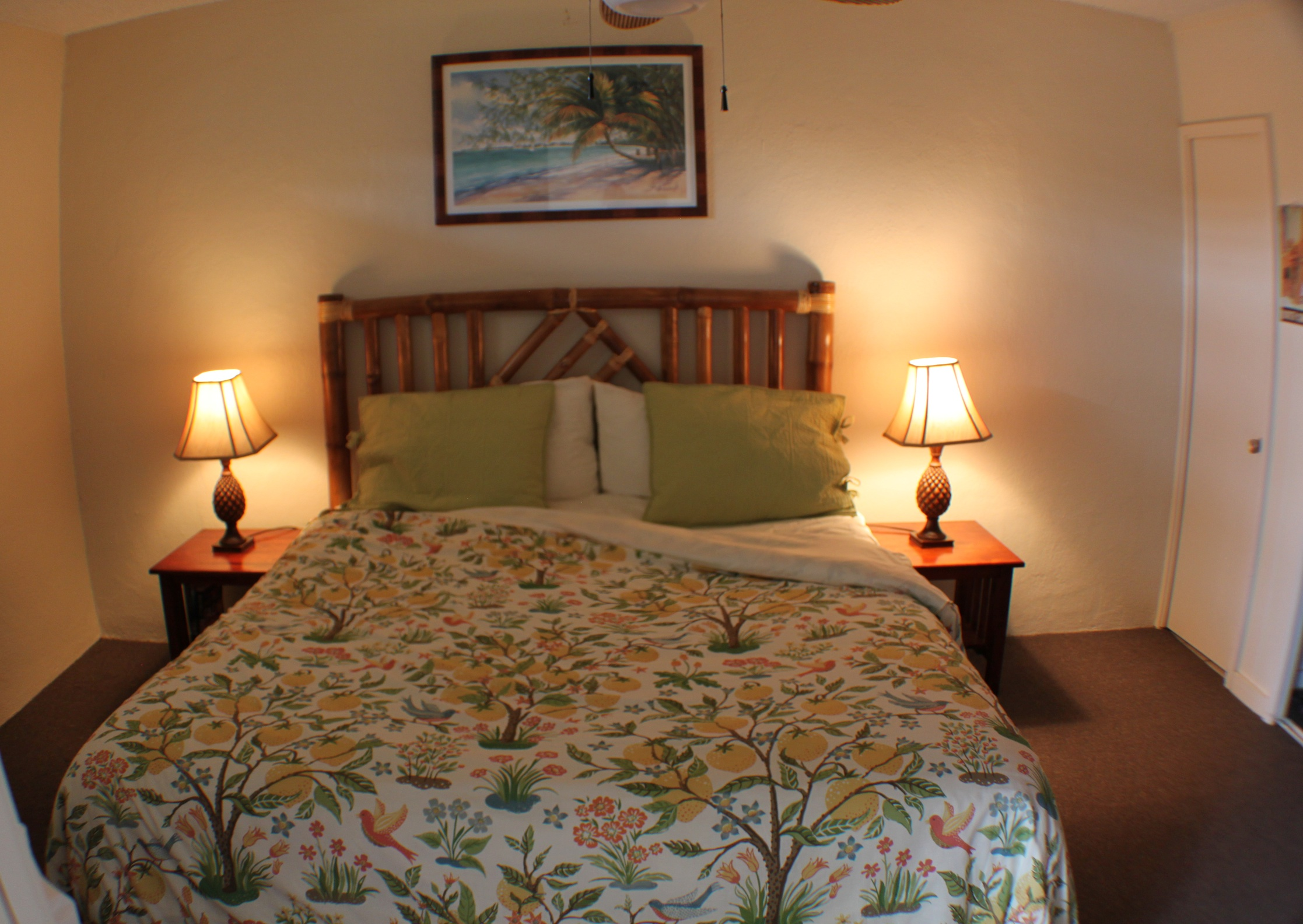 Paia Maui Vacation Rental Master Bedroom with California King Bed.